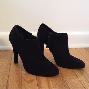 Ralph Lauren black suede ankle boot